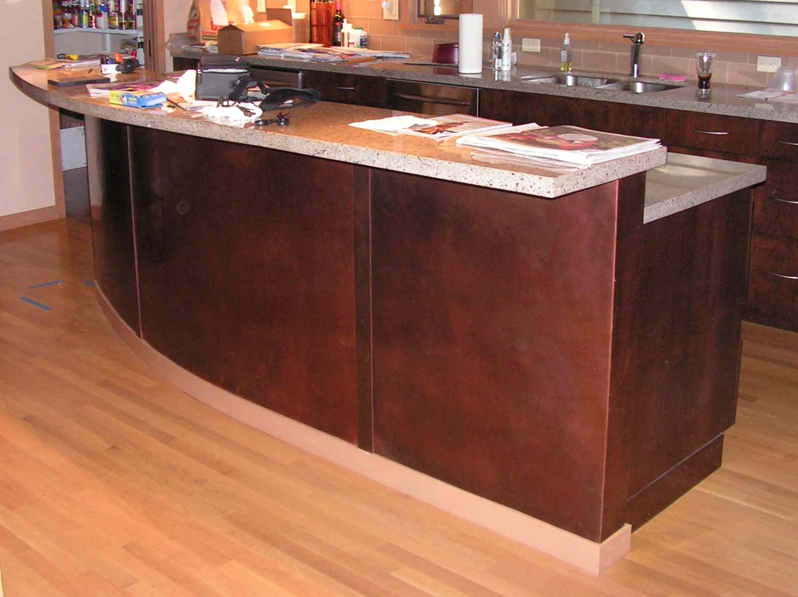 Mesa Bar  Patina Steel, Copper, and Bronze at Coyotes on Alki